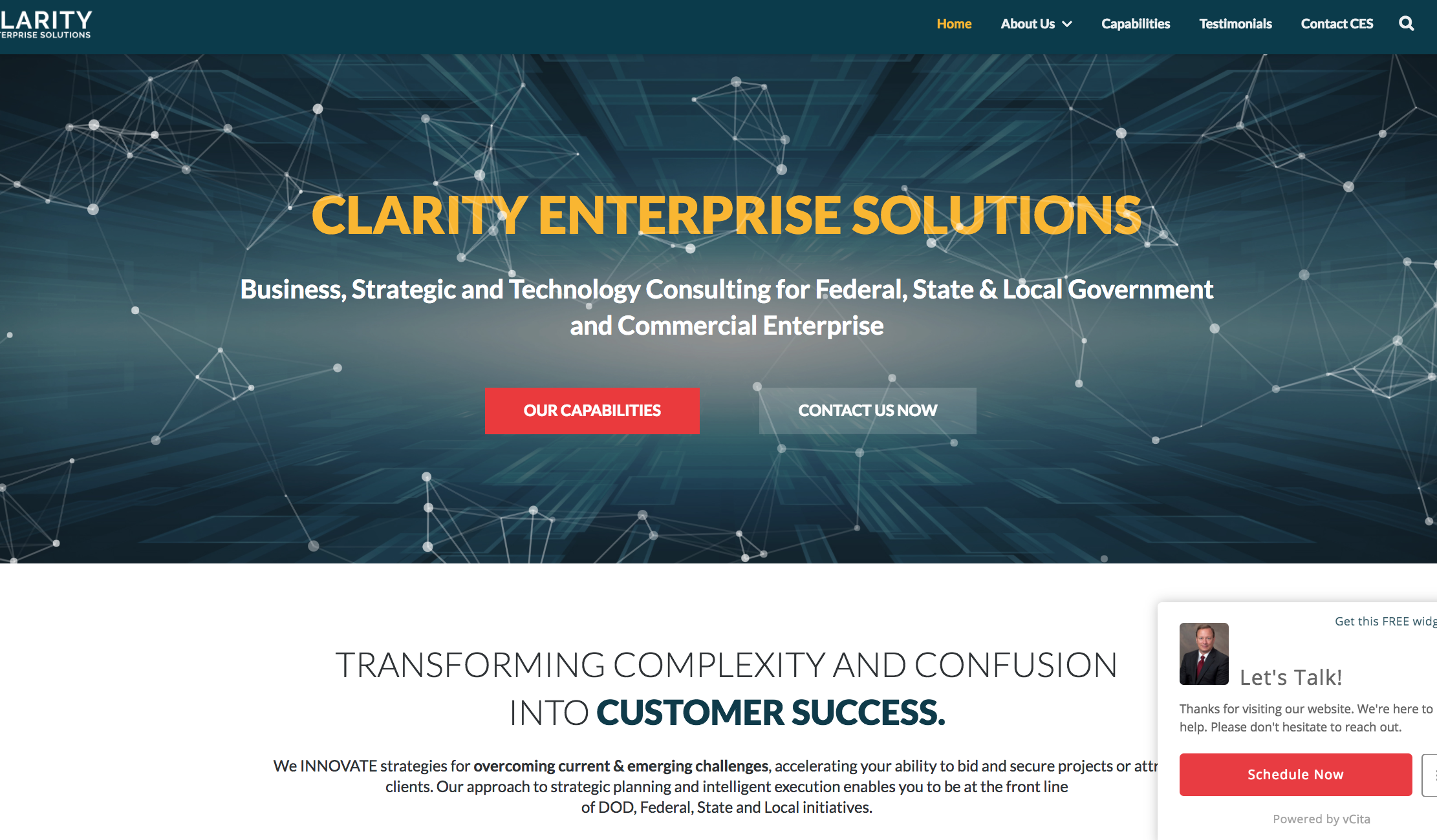Clarity Consultants Website from Digital Sea