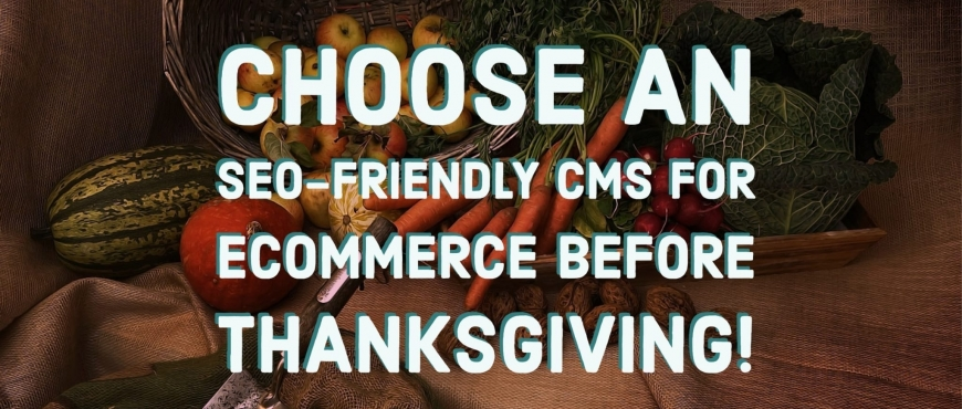 Choose an seo-friendly cms for ecommerce before Thanksgiving